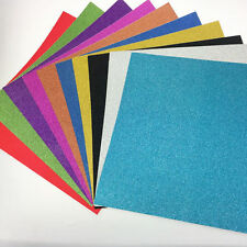 30x30cm self Adhesive Glitter Scrapbooking DIY Craft Paper Vinyl Sticker 7 sheet