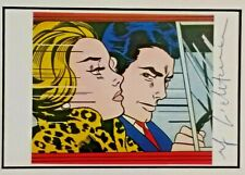 ROY LICHTENSTEIN - Driving (1963) - FRAMED & SIGNED - VERY RARE