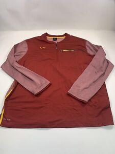 Nike 1/4 Zip Pullover Men Red Sz 3XL Long Sleeve Dri-Fit
