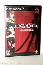 BLOOD + SOUYOKU NO BATTLE RONDO GIOCO USATO OTTIMO SONY PS2 ED GIAPPONESE 35125