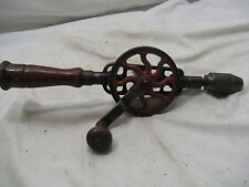Vintage Primitive Craftsman Hand Crank Drill Tool Egg Beater Type