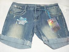 NWT Almost Famous Bermuda Shorts Dark Wash Size 5 Juniors