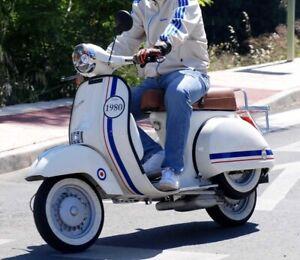 Vinilo Adhesivo Bandera Francés Italia 1980 (Personalizado)Vespa Piaggio