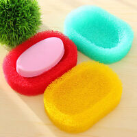 candy color Sponge Soap Dish Plate Bathroom Kit Soap Holder Accessories Hold YK