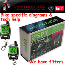 SPY 5000 MOTORBIKE MOTORCYCLE ALARM & IMMOBILISER 2 WAY LCD PAGER REMOTE START