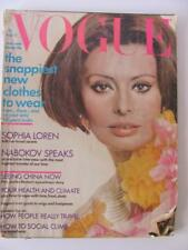 April 15 1972 Vogue Magazine SOPHIA LOREN Cover China Henry Clarke Lyn Reuson