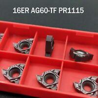"""10pcs 16ER AG60-TF PR1115 CNC thread insert 16ER AG60 Carbide inserts 16ER 3/8"""""""