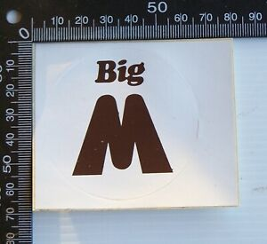 VINTAGE 80s BIG M CHOCOLATE MILK AUSTRALIA SOUVENIR ADVERTISING PROMO STICKER