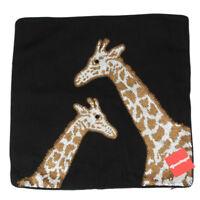 JONATHAN ADLER Animalia Giraffe Beaded Black Linen Large Pillow Case 20 x 20