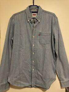 Levis Jeans Hemd Shirt Levis Slim Fit Gr M Vintage