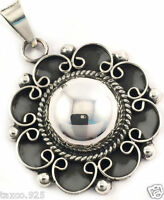VINTAGE DESIGN TAXCO MEXICAN STERLING SILVER BEADED BEAD PENDANT MEXICO