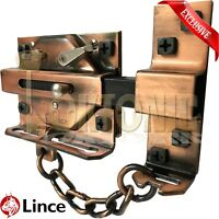 Lince High Security Heavy Rim Duty Gate Shed Garage Sliding Dead Bolt Lock