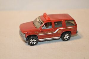 die cast vehicle Matchbox Fire Rescue Emergency truck 1997 Chevy Tahoe 1:67