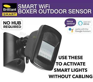 BRILLIANT SMART WiFi BOXER OUTDOOR IP66 PIR MOTION SECURITY SENSOR GOOGLE HOME