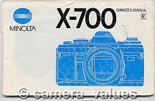 Minolta X-700 SLR Camera Instruction Book X700 More Manuals & User Guides Listed