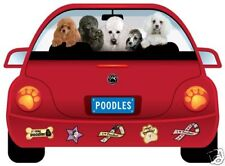 POODLE PUPMOBILE  car magnet