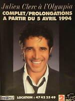 PUBLICITÉ 1993 EUROPE 1 AVEC JULIEN CLERC A L'OLYMPIA - ADVERTISING