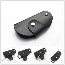 Black Genuine Leather Remote Smart Key Fob Holder For Most Folding Key For Honda