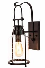 Rustic Wall Sconce Lantern in Rubbed Bronze by Muskoka Lifestyle Products