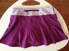 Lululemon Skirt Purple Plum White Pleated Tender Violet Skirt Skort Size 2