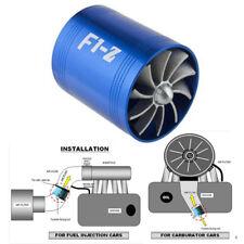 Fuel Saver Aluminum Alloy Car Air Intake Turbonator Double Fan Turbine Turbo Gas