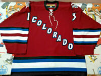 Authentic Pro 52 Colorado Avalanche 2004 Dan Hinote Third Jersey Vtg Koho CCM