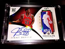 12-13 JIMMY BUTLER IMMACULATE COLLECTION NBA LOGOMAN PATCH ROOKIE AUTO #1/1!!!