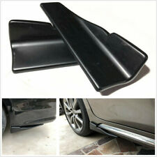 2 Pcs ABS Matte Black Car Rear Lip & Body Side Skirt Spoiler Splitters Wings Lip