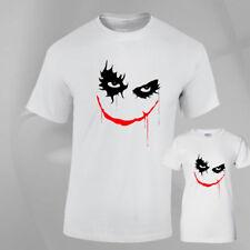Joker Face Halloween Costume Horror Fancy Dress fun Top T-SHIRT Mens Ladies fit