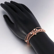 Rhinestone Rose Gold Plated Chain Fashion Bracelets