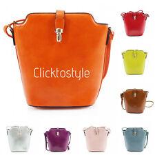 Women JM909 Buckle Bucket Style Cross Body Shoulder Bag Ladies Fashion Hand Bag