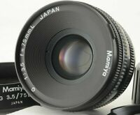 [EXC5 w/ Hood] Mamiya G 75mm f/3.5 L MF w/ Caps For New Mamiya 6 from JAPAN 147