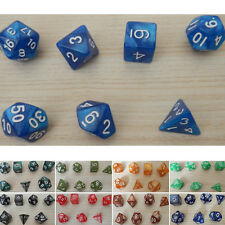 7X D10 Multi-Sided Gem Dice Die for RPG Dungeons & Dragons DND D&D Games Set Pip