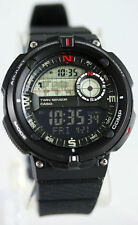 Casio SGW-600H-1B Digital Compass Thermometer, Resin Watch, 5 Alarms, World Time