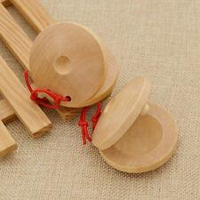 Flamenco Kastagnetten Rot Schnur 1Paar Musikinstrument Holz Wooden Castanets Neu