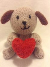 KNITTING PATTERN - Puppy Love with heart chocolate orange cover / dog toy