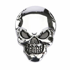Motorcycle 3D Skull Bone Oil Fuel Tank Fairing Body Decal Sticker Badge #1