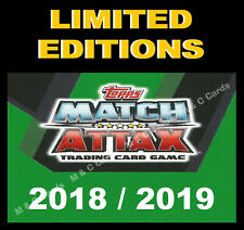 Match Attax 2018/19 18/19 LIMITED EDITION / 100 CLUB Cards incl EXTRA 2019
