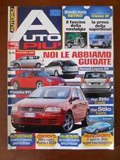AUTO PIU' n°10 2001 Fiat Stilo Toyota Avensis Verso Porsche 911 Puma vs 206[P71]