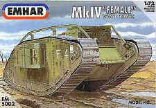 """Gli EMHAR 1/72 MK. IV"""" """"WWI Tank Donna # 5002"""