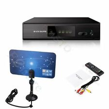 USA ATSC DIGITAL Terrestrial CONVERTOR TV BOX HD RECEIVER + Indoor ATSC Antenna