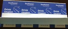 Southwest Airlines - 4 drink coupons - Expire on September 30, 2020