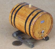 1:12 Scale X-Large 248L Wooden Beer Barrel On A Stand Dolls House Pub Accessory