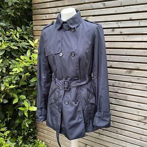 Zara Woman Navy Mac Jacket Size L / UK 12 - 14 VGC