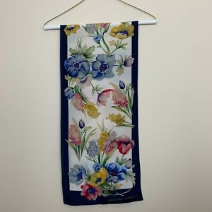Adrienne Vittadini Floral Silk Rectangle Scarf 52 Long