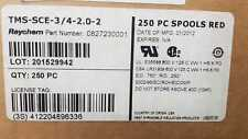LOT OF 250 PCS TMS-SCE-3/4-2.0-2  0827230001 RAYCHME RED WIRE MARKER