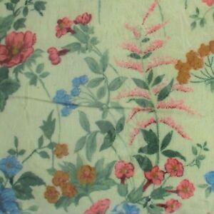 Vtg NOS Twin Royal Heritage 100% Cotton Floral Flannel Sheet Set Cream w Flowers
