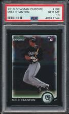 2010 Bowman Chrome Giancarlo Mike Stanton #198 Rookie Card PSA 10 DEAD CENTERED