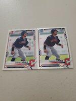 Gabriel Arias (2) Lot 2021 Bowman 1st Bowman Chrome x 1 + Paper x 1 Indians