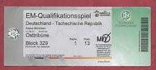 Orig.Ticket   EM Qualifikation  17.10.2007  DEUTSCHLAND - TSCHECHIEN  !!  SELTEN